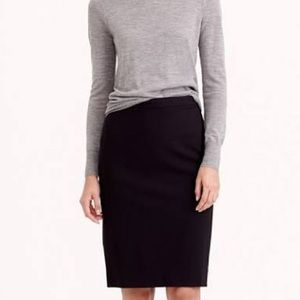 J. Crew No 2 Pencil skirt in double serge wool